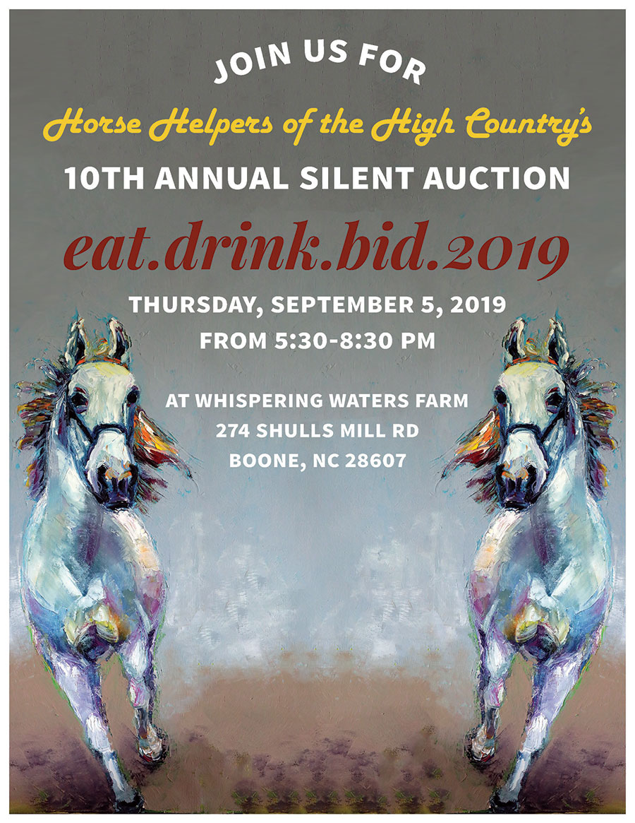 2019 Eat Drink Bid Poster - Horse Helpers NC